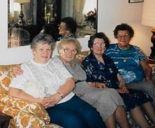 My mom with 3 sisters
