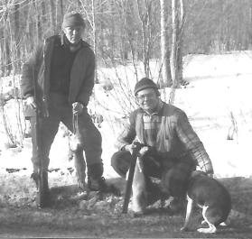 with Ivar after a rabbit hunt.